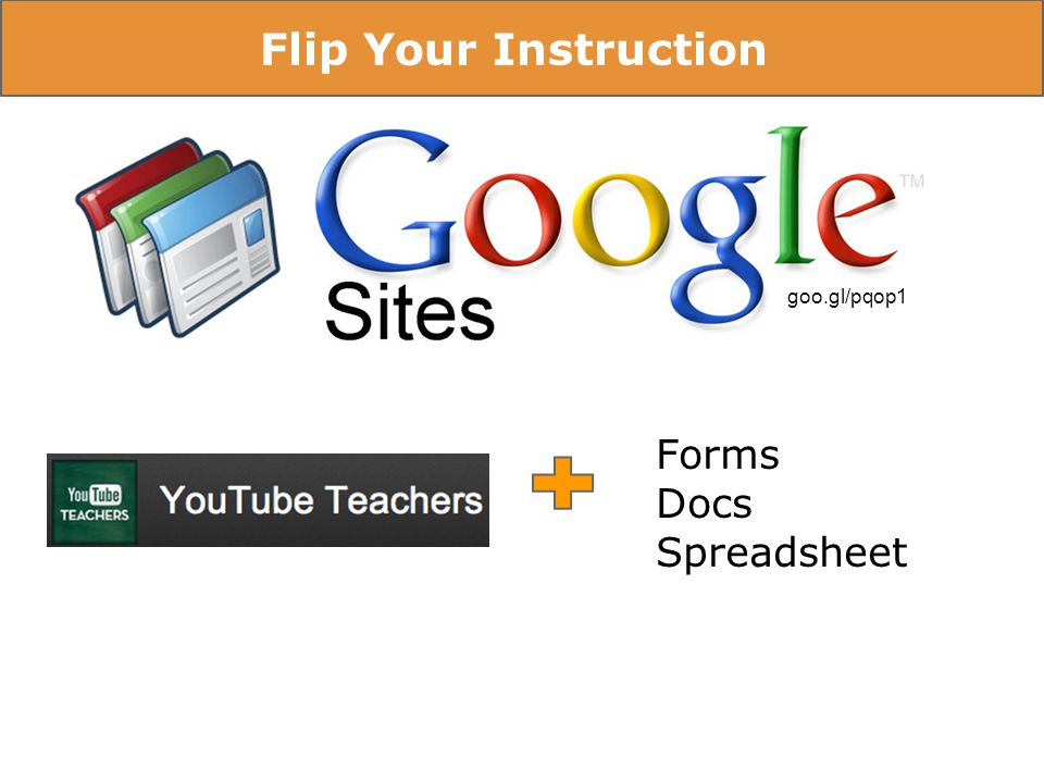 Flip Your Instruction goo.gl/pqop1 Forms Docs Spreadsheet