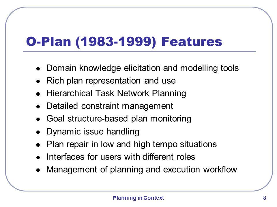 Planning in Context 19 Optimum-AIV