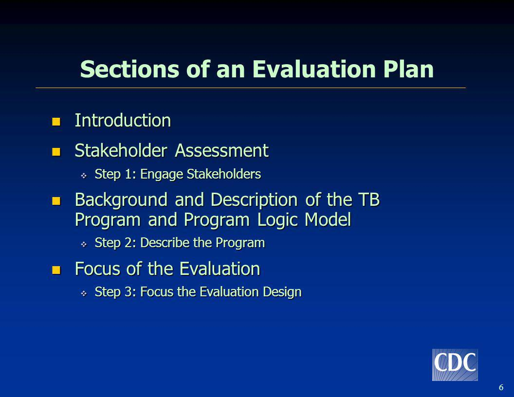 17 Focus of the Evaluation Since you cannot feasibly evaluate everything, you must focus the evaluation by prioritizing and selecting evaluation questions.