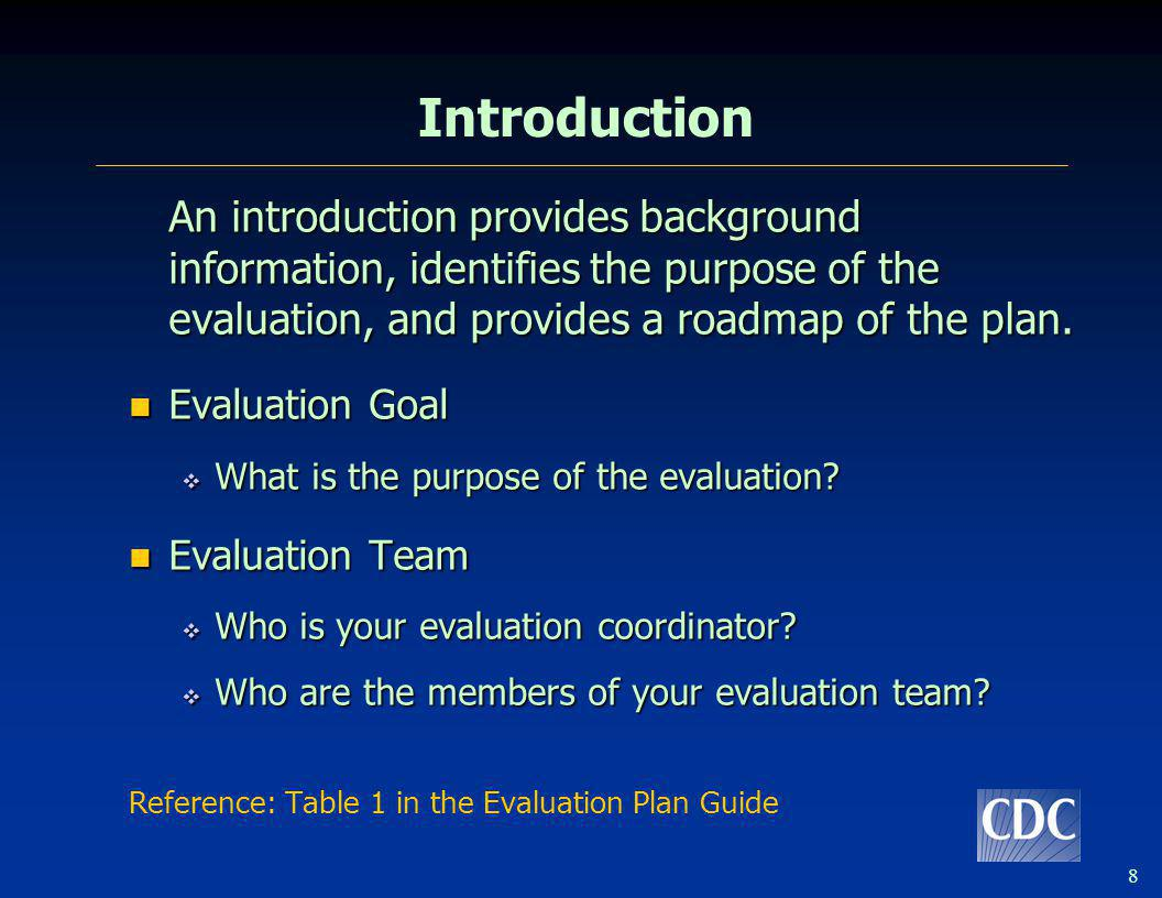29 Tips for Evaluation Planning Start small – focus on one initiative or program component to start with and limit the number of evaluation questions Start small – focus on one initiative or program component to start with and limit the number of evaluation questions Use what you already know about the program Use what you already know about the program Consider existing sources of data Consider existing sources of data Be realistic in your timeline and assessment of resources Be realistic in your timeline and assessment of resources Use the template and tables provided in the guide, adapt as needed Use the template and tables provided in the guide, adapt as needed Seek help with your evaluation Seek help with your evaluation