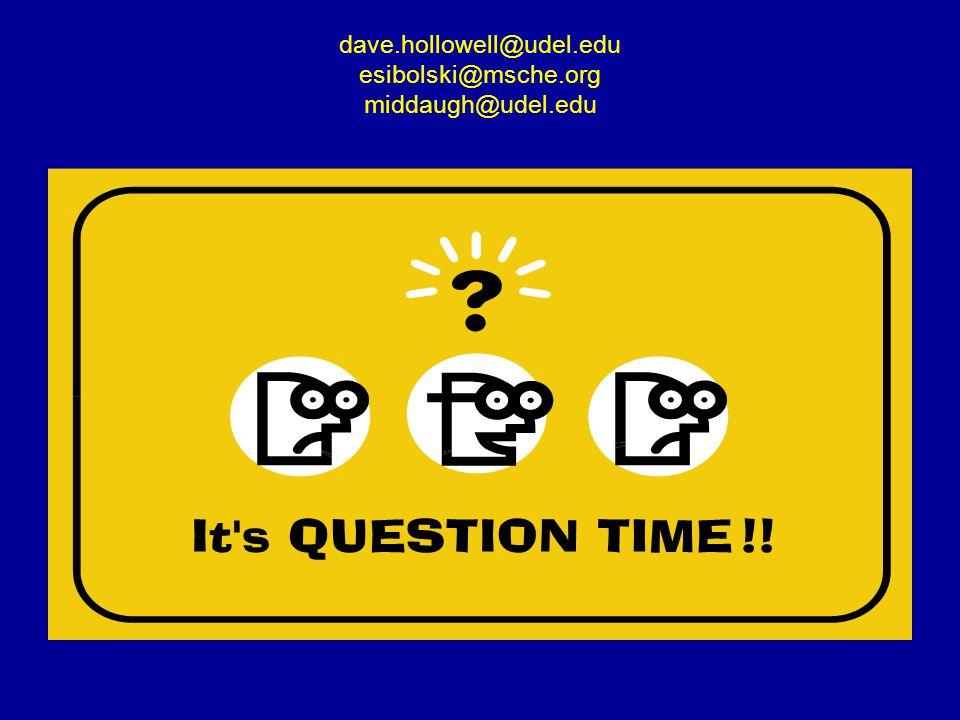 dave.hollowell@udel.edu esibolski@msche.org middaugh@udel.edu
