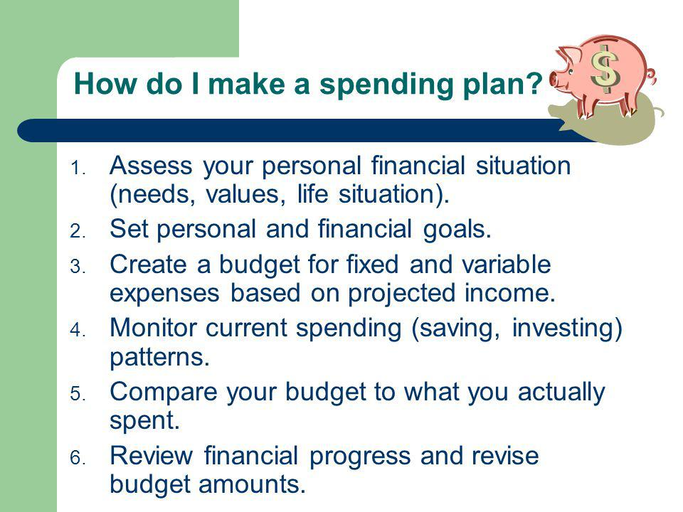 How do I make a spending plan.1.