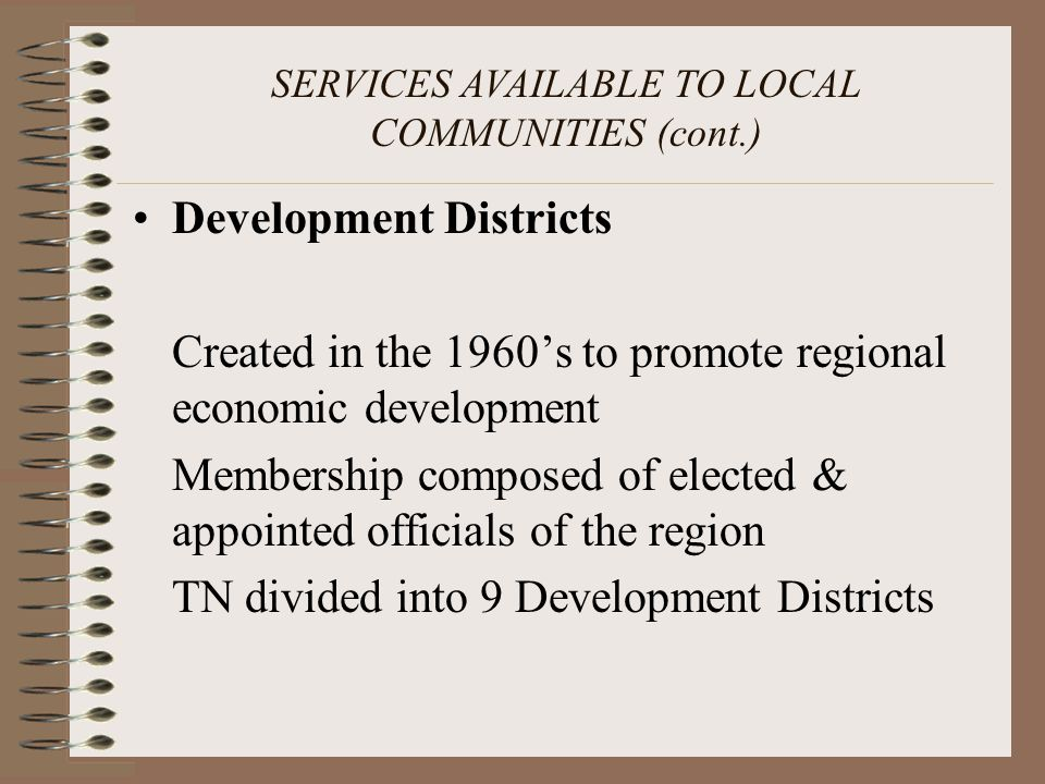 TENNESSEE PLANNING COMMISSIONER HANDBOOK Section IV Planning Commission Conduct; Officers, Staff & Procedures; Citizen Participation; Training & Continuing Education