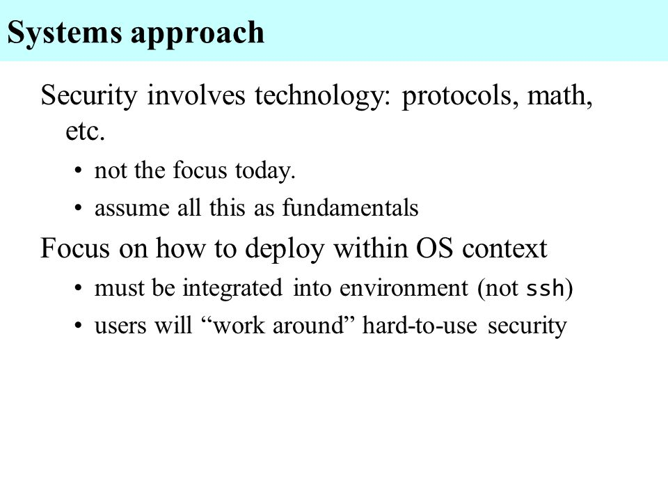 Outline What is a security architecture.What is Plan 9.
