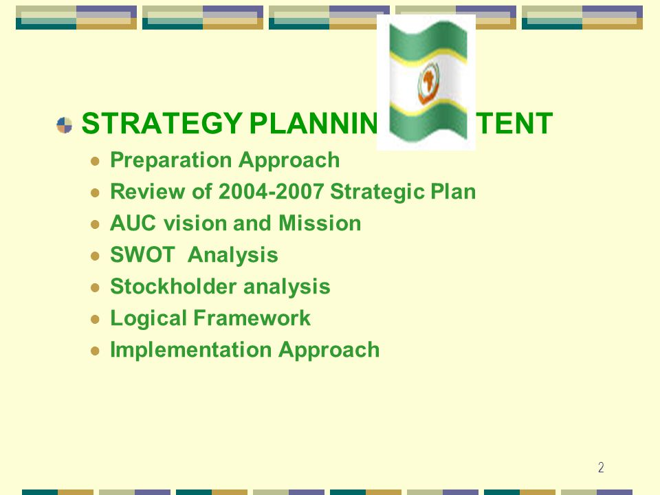 1 AFRICAN UNION COMMISSION STRATEGIC PLAN October 2009