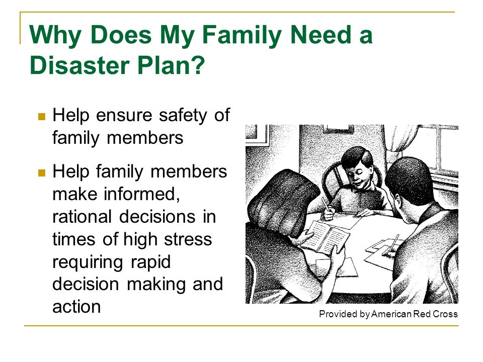 Why Does My Family Need a Disaster Plan.
