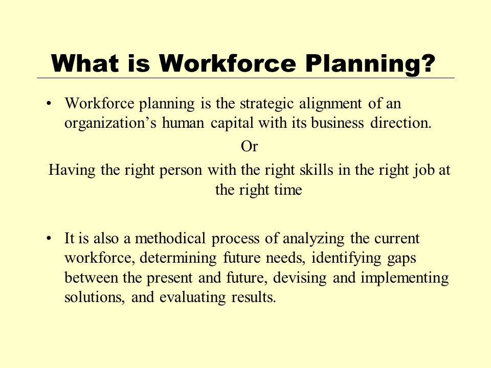 What is Workforce Planning.