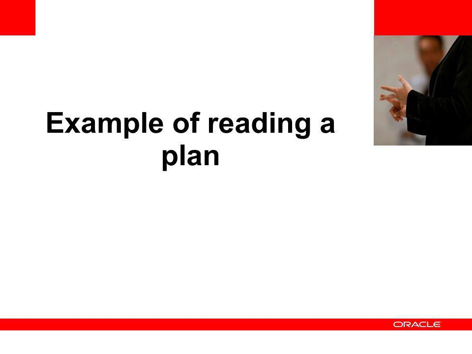 Example of reading a plan