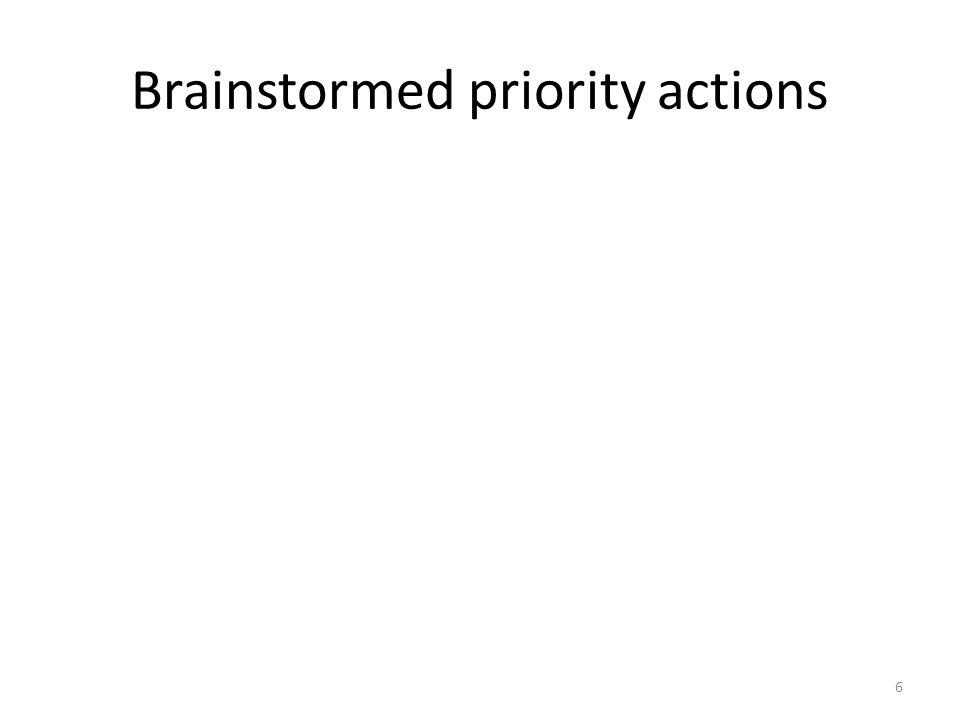 Developing an action Plan Identify the ( 5) priority actions from among the suggested ones. 7