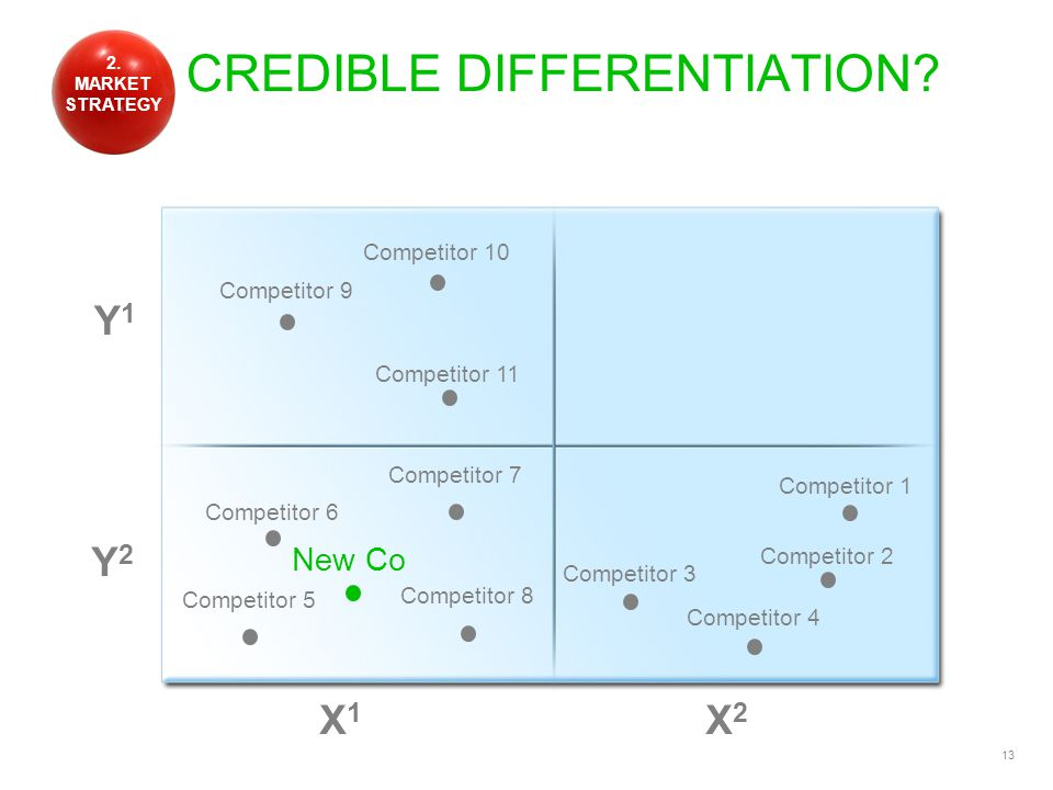 13 CREDIBLE DIFFERENTIATION.