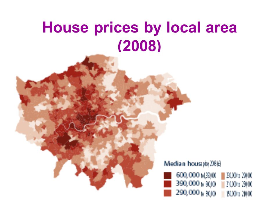 House prices by local area (2008)