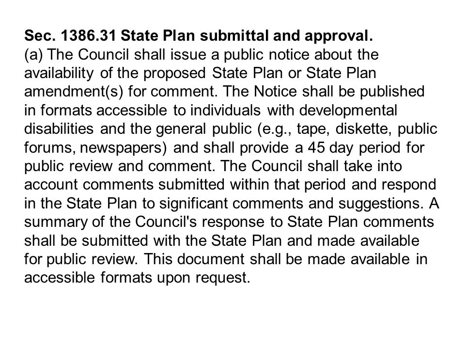 Sec. 1386.31 State Plan submittal and approval.