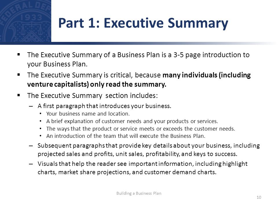 Introduction of business plan