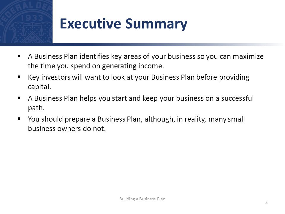 A Business Plan identifies key areas of your business so you can maximize the time you spend on generating income.