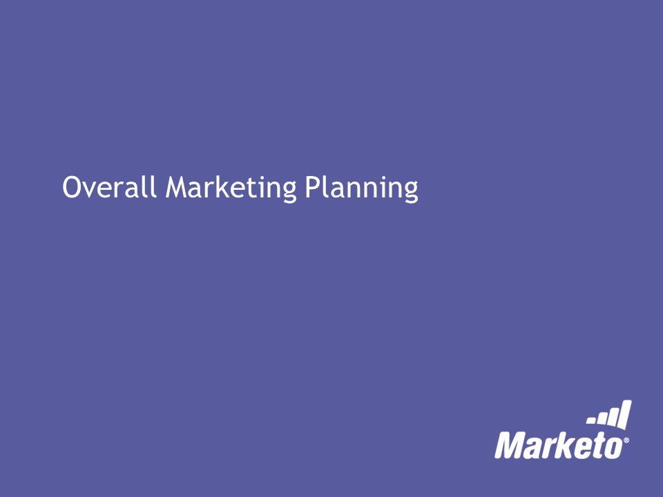 Overall Marketing Planning