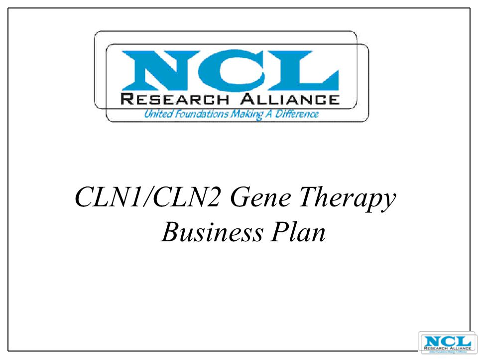 CLN1/CLN2 Gene Therapy Business Plan