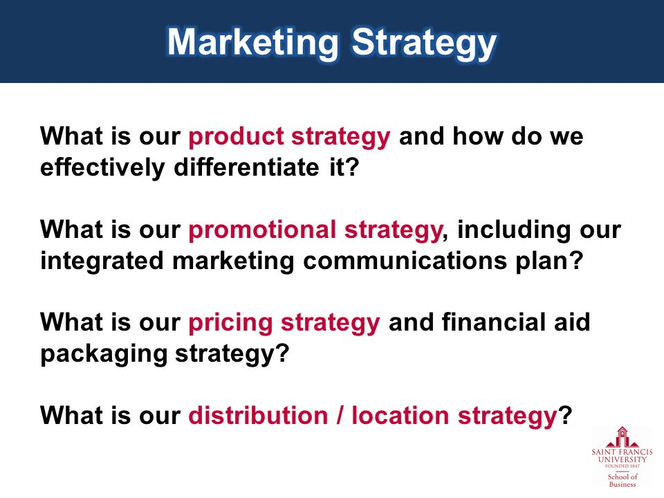 What is our product strategy and how do we effectively differentiate it.