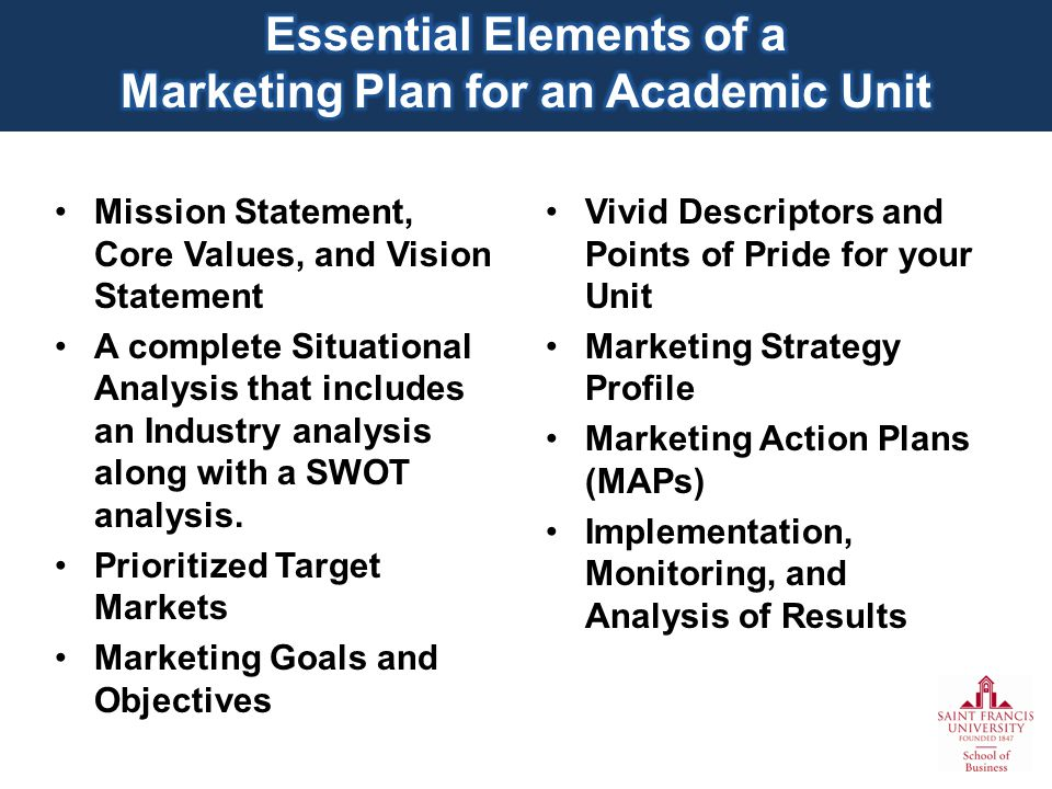 Mission Statement, Core Values, and Vision Statement A complete Situational Analysis that includes an Industry analysis along with a SWOT analysis.
