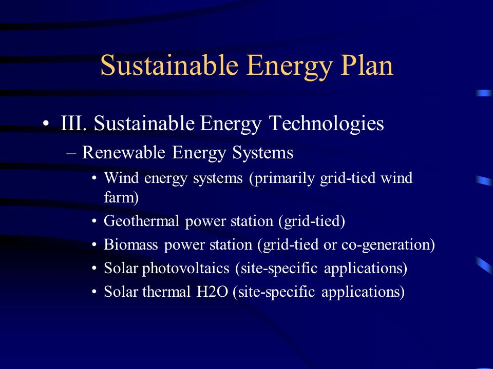 Sustainable Energy Plan III.