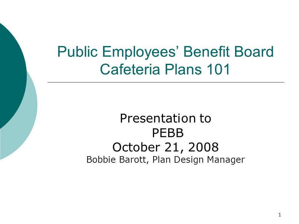 2 What is a Cafeteria Plan.
