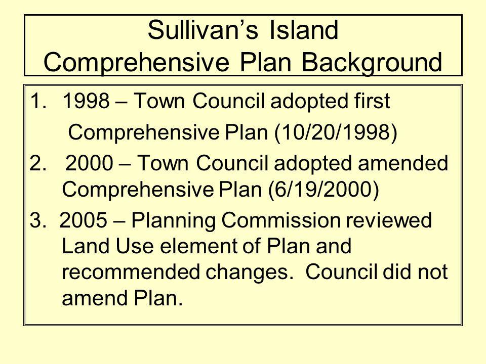 Sullivans Island Comprehensive Plan (2008) –January 29, 2008: Public Forum at Holy Cross Episcopal to begin public input process.