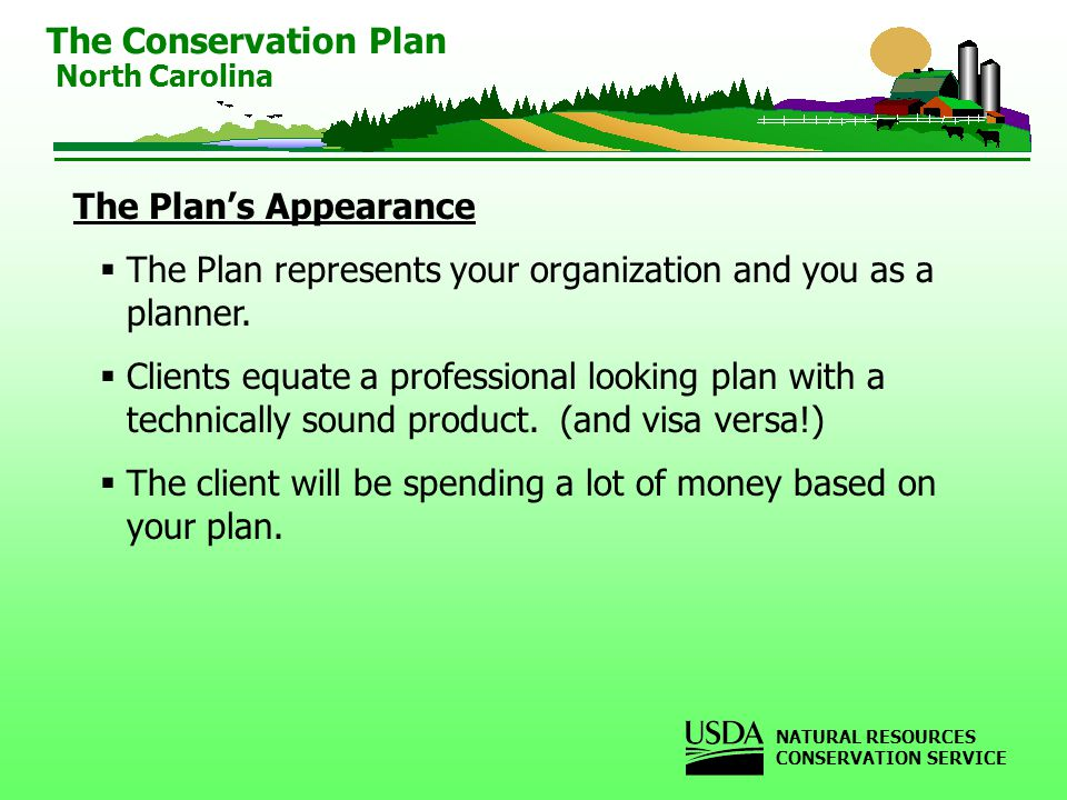 The Plans Appearance The Plan represents your organization and you as a planner.