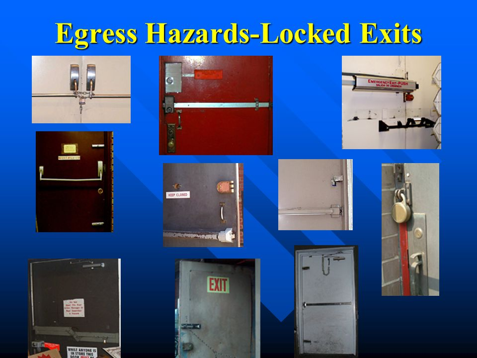 Egress Hazards-Locked Exits