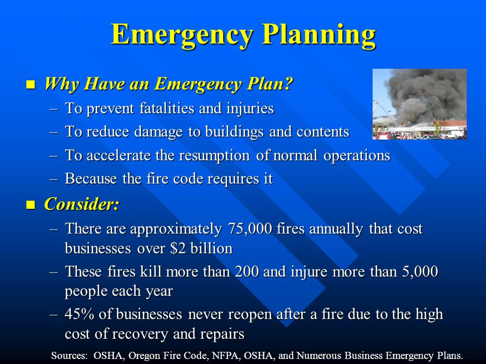 Why Have an Emergency Plan. Why Have an Emergency Plan.