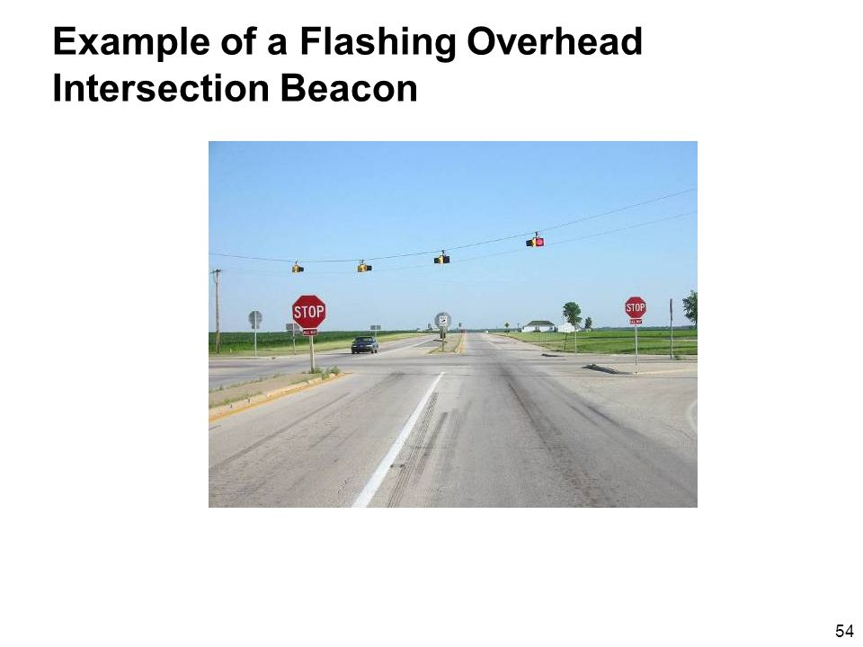 54 Example of a Flashing Overhead Intersection Beacon
