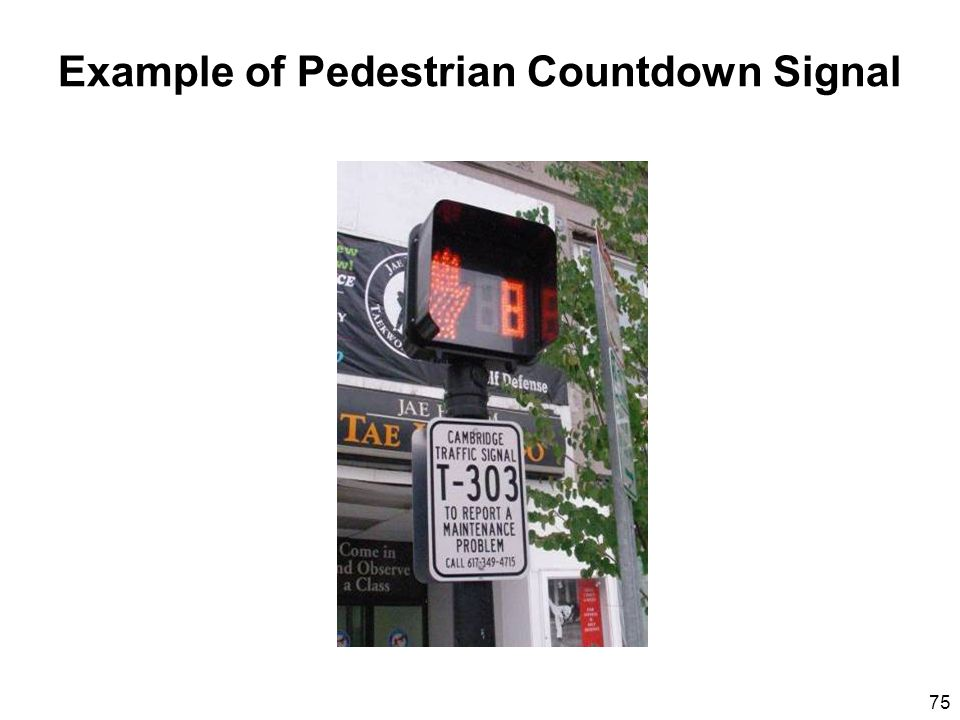 75 Example of Pedestrian Countdown Signal