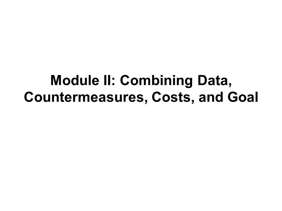 Module II: Combining Data, Countermeasures, Costs, and Goal