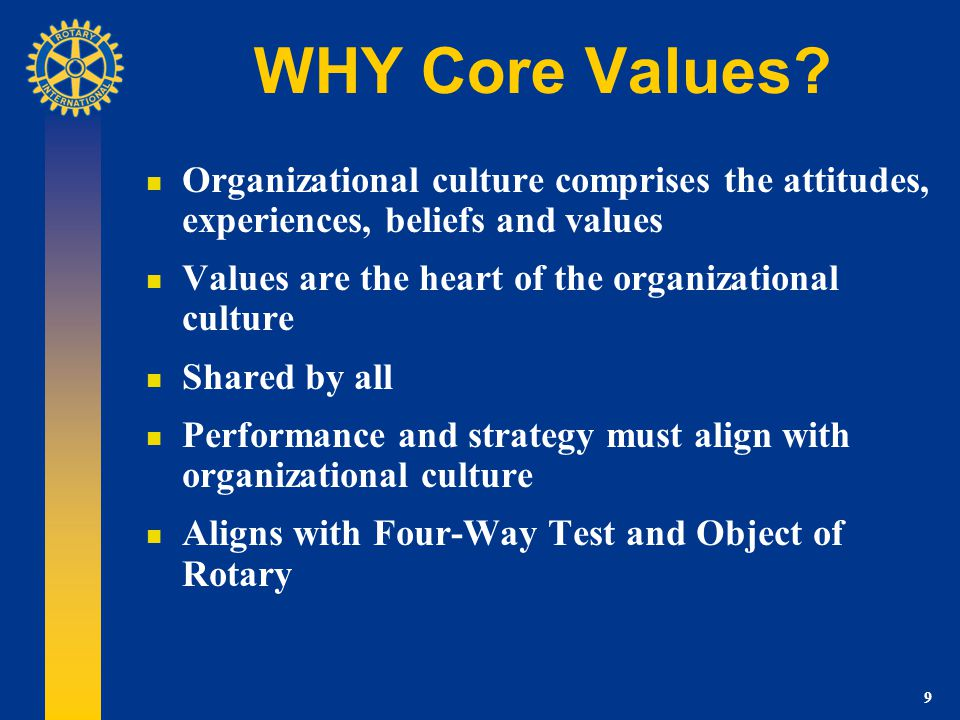 9 WHY Core Values.
