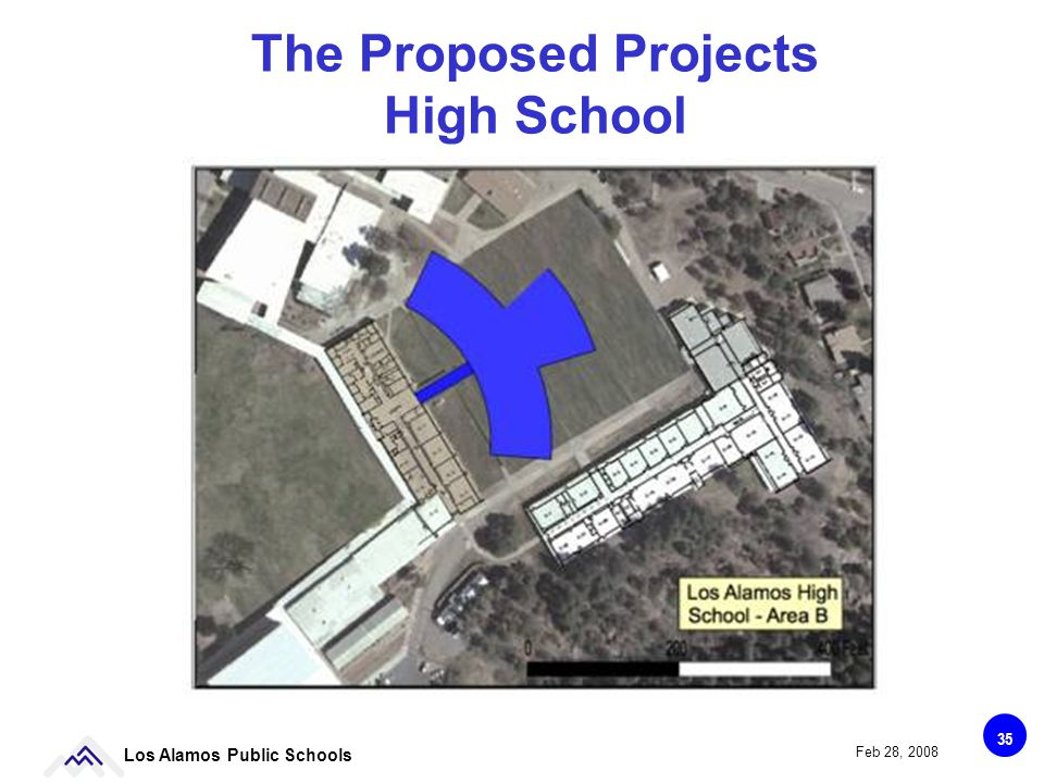 35 Los Alamos Public Schools Feb 28, 2008 The Proposed Projects High School