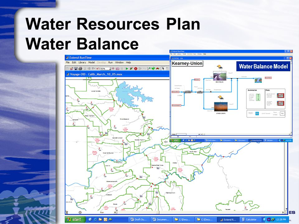 Water Resources Plan Water Balance Water Balance Model