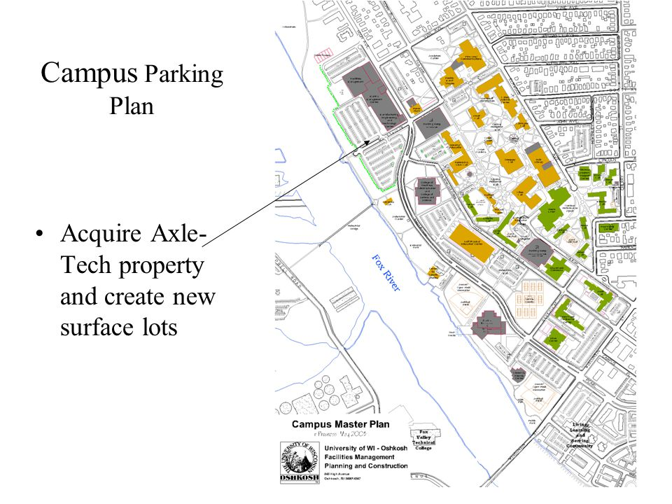 Campus Parking Plan Acquire Axle- Tech property and create new surface lots