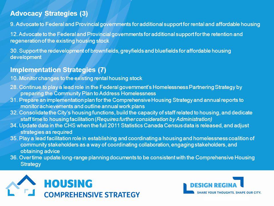 Advocacy Strategies (3) 9.