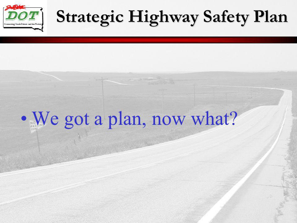 Strategic Highway Safety Plan Connecting South Dakota and the Nation We got a plan, now what?