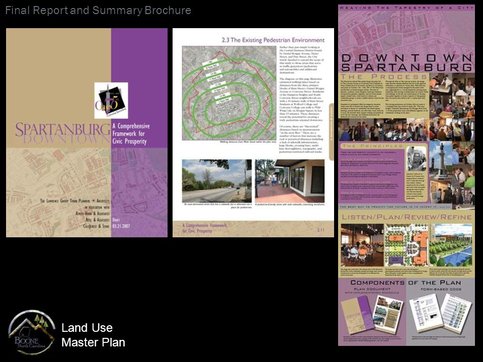 Land Use Master Plan Final Report and Summary Brochure
