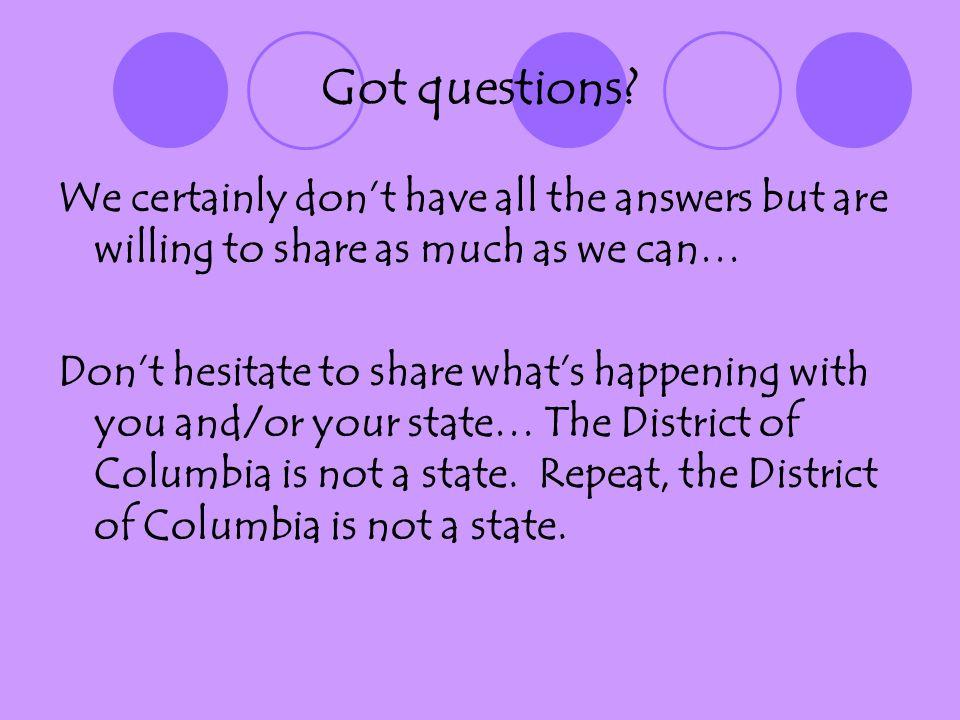 Got questions.