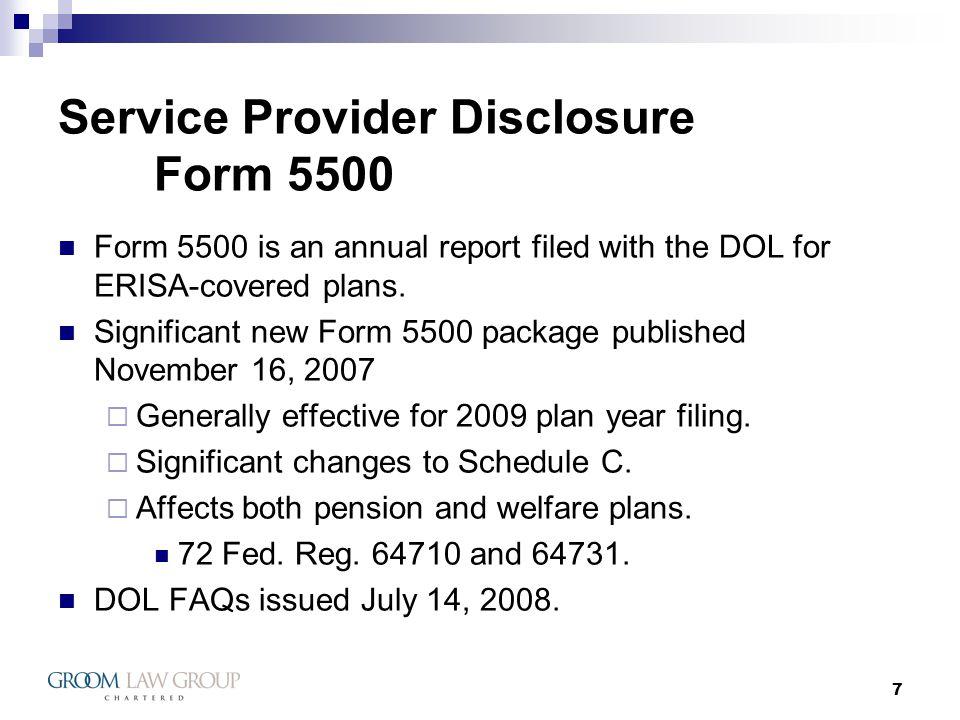 28 Service Provider Regulation 408(b)(2) Amendment Next Steps.