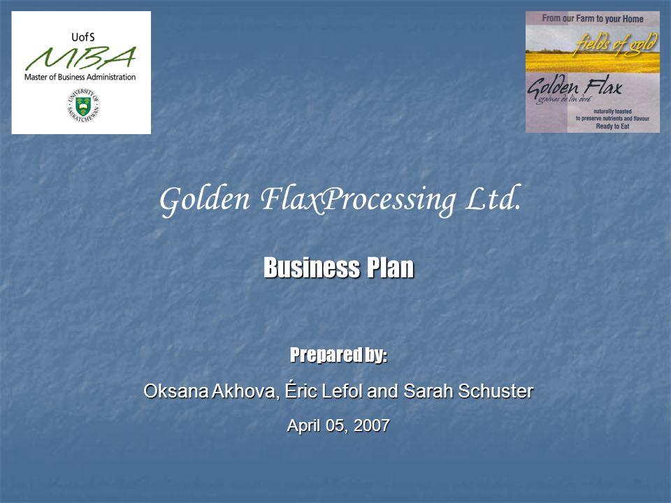 Golden FlaxProcessing Ltd.