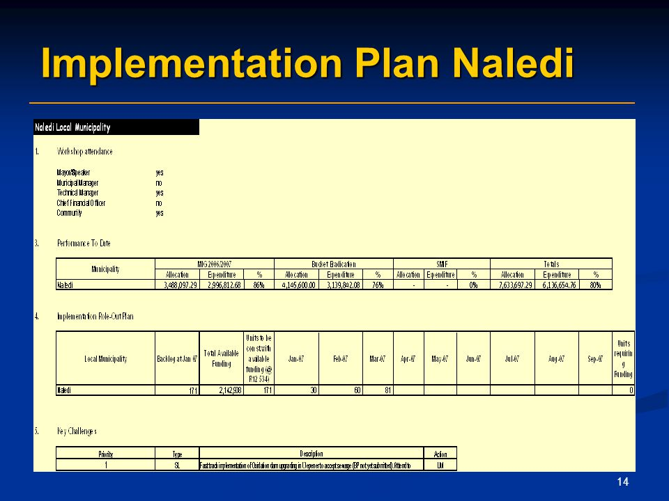 14 Implementation Plan Naledi