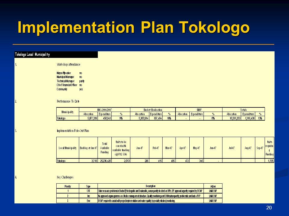 20 Implementation Plan Tokologo