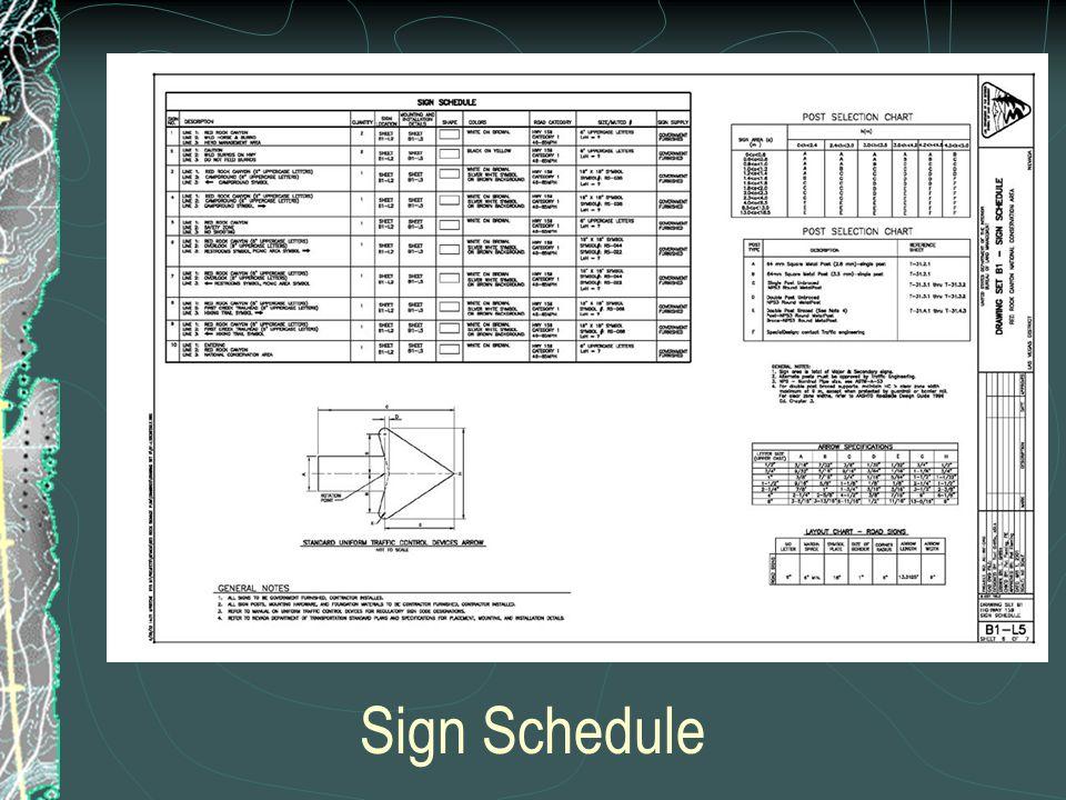 Sign Schedule