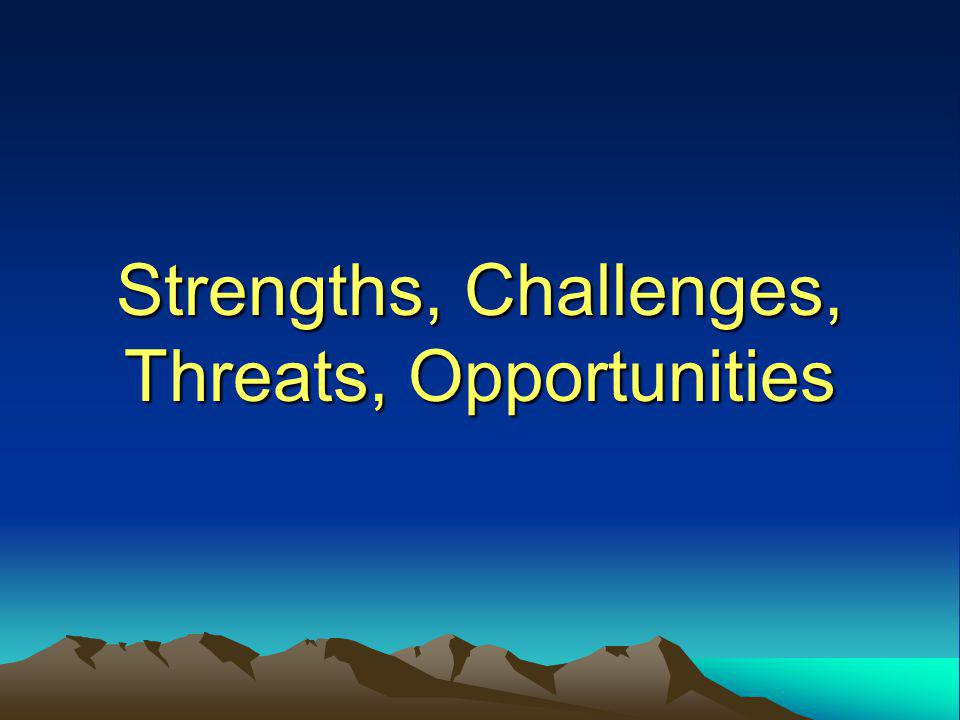 Strengths, Challenges, Threats, Opportunities