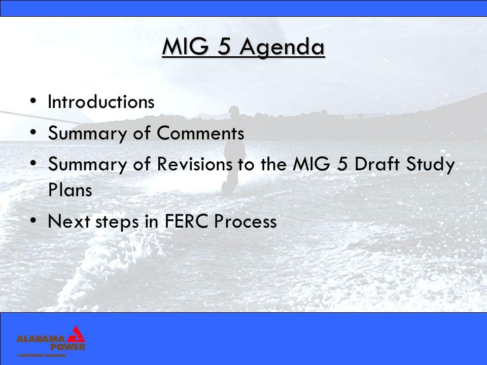 MIG 5 Studies Recreation Plan Study Plan Socioeconomic Impacts of Rule Curve Change