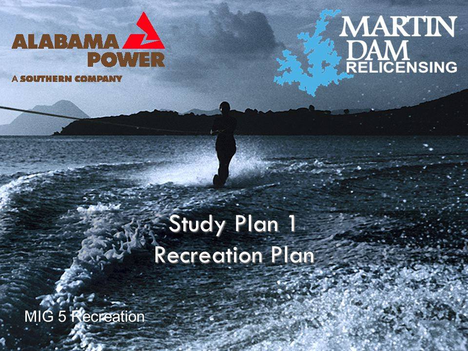Study Plan 1 Recreation Plan MIG 5 Recreation