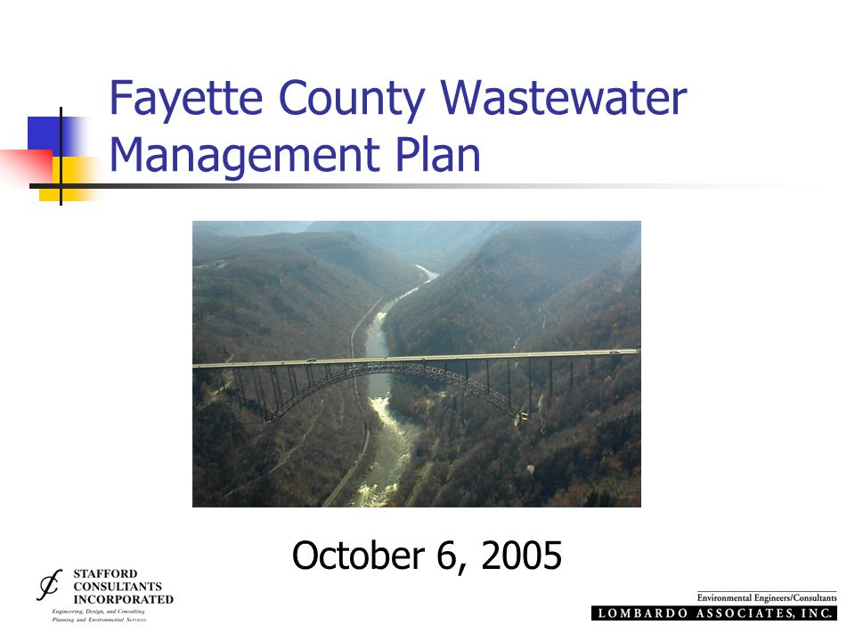 Fayette County Wastewater Management Plan October 6, 2005
