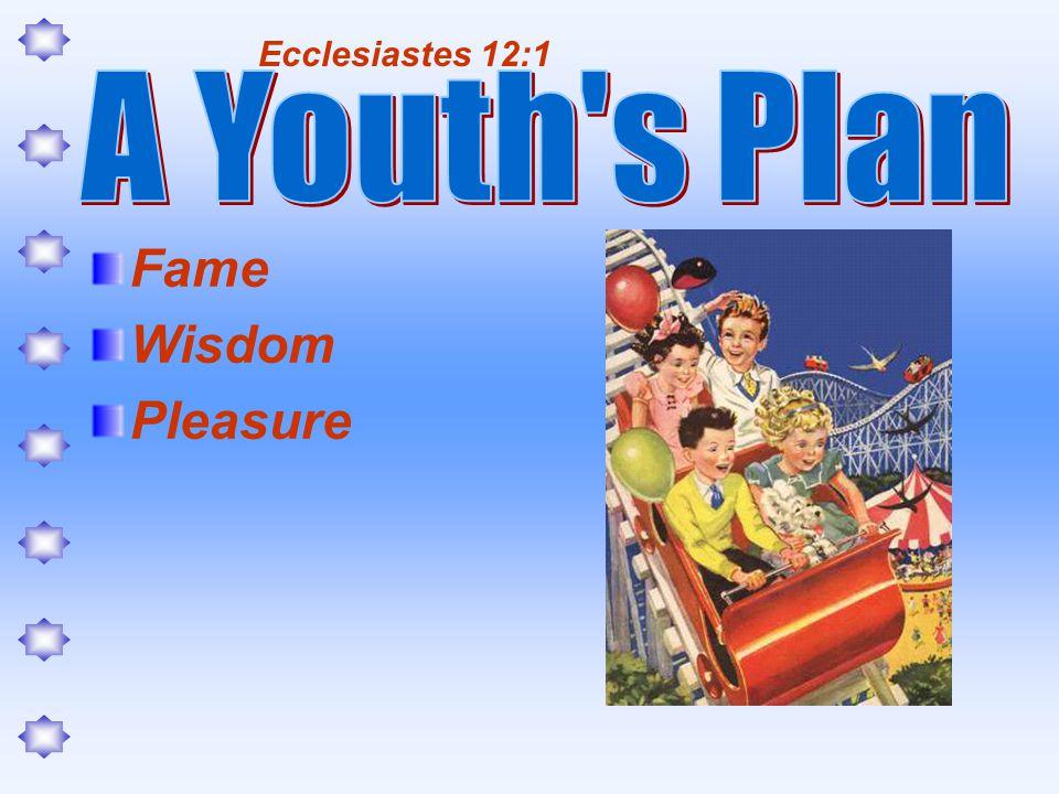Fame Wisdom Pleasure Ecclesiastes 12:1