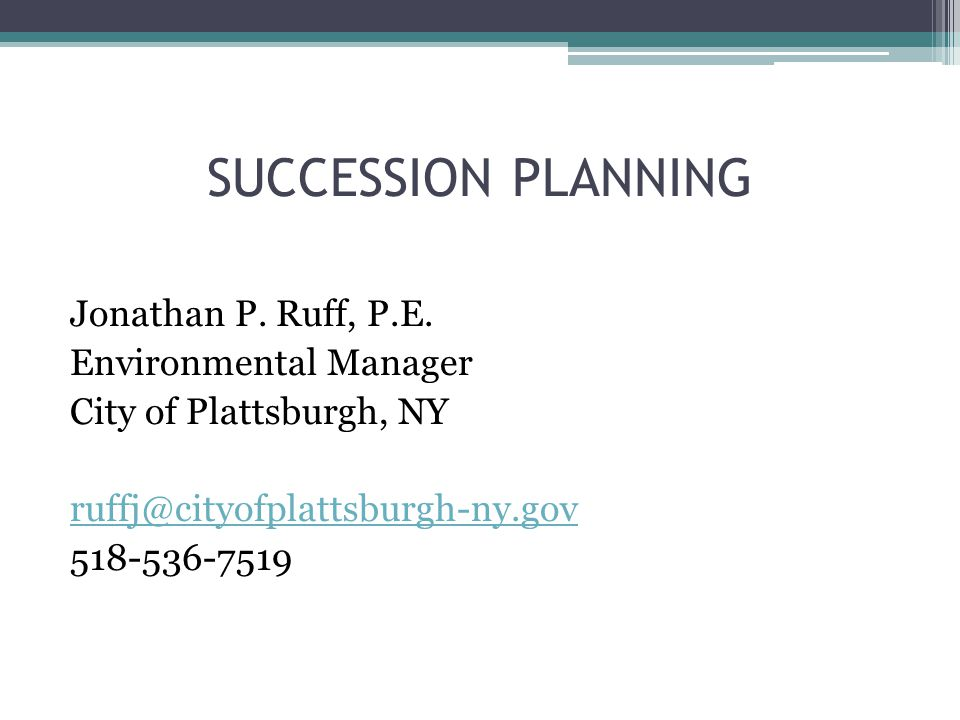 Agenda What is Succession Planning? Why is it important? How do we do it? Case Study